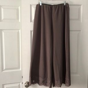 Suzanne Betro Plus Size Wide Leg Pants.